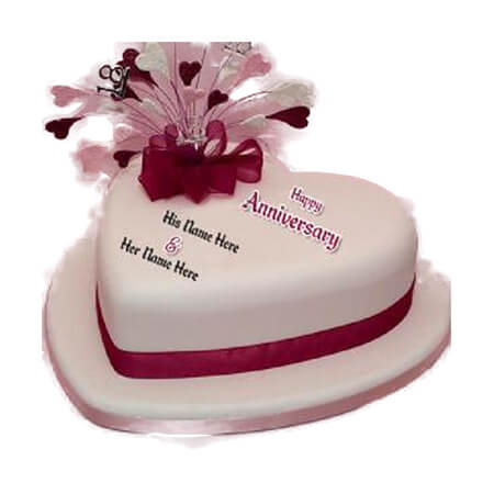 Simple Love Anniversary Cake