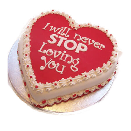 Red Love Cute Anniversary Cake