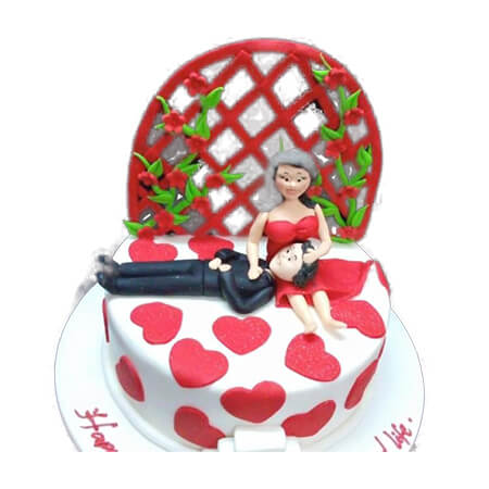 Happy Love Bed Cake