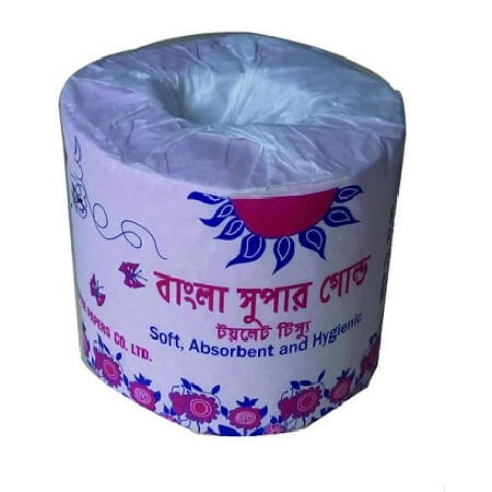 Bangla Toilet Tissue Super Gold - White Absorbent , Soft & Hygienic