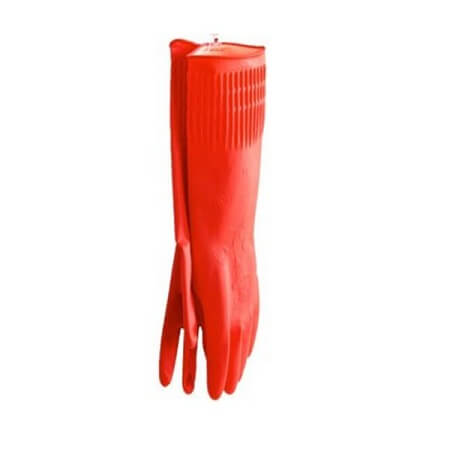 Household Gloves 145 inch Red China 2 pcs