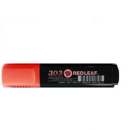 Red Leaf 303 Flourescent Highlighter Orange