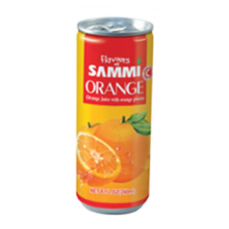 Sammi Orange Juice Can 240 ml