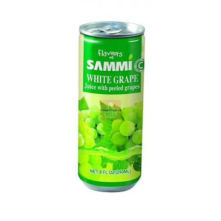 Sammi White Grape Juice Can 240  ml