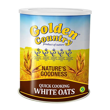 Golden Country Quick  Cooking White  Oats Tin