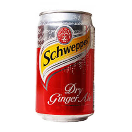 Schweppes Dry Ginger Ale Can