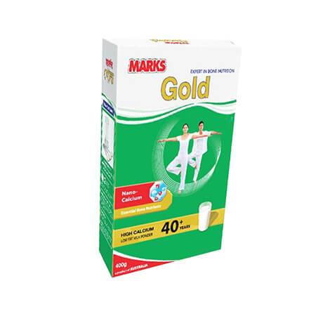 Marks Gold High Calcium Low Fat  Milk Powder For 40 yrs