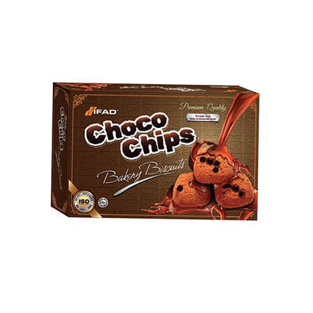 Ifad Choco Chips Biscuit 250  gm