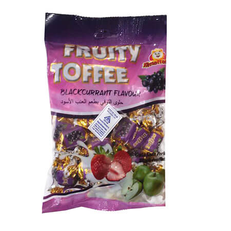 Fruity Toffee Blackcurrant flavour