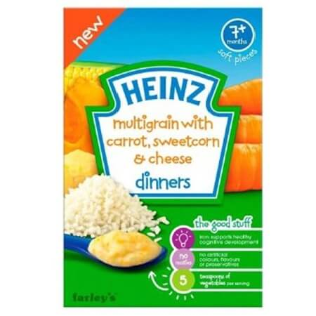 Heinz Multigrain With Carrot Sweetcorn Cheese Dinners
