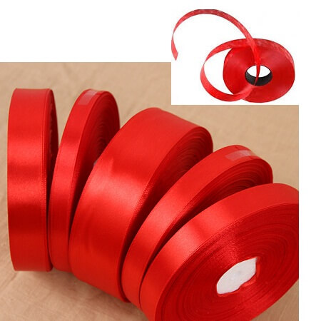 Plastic Ribbon 1inch Red