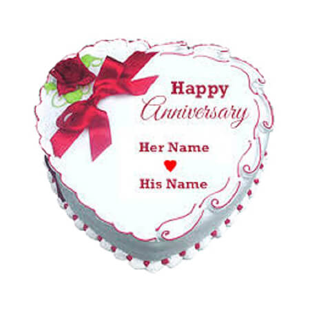 Cute  Love   Simple Anniversary Cake