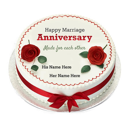 Happy Marriage Anniversary Cake