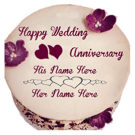 Happy Wedding  Anniversary Cake